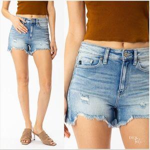 Jean Raw Hem Shorts